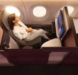 Viaje na Qsuite da Qatar Airways por 65.000 milhas Smiles