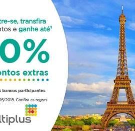 Bônus de até 40% na transferência de pontos para a Multiplus!