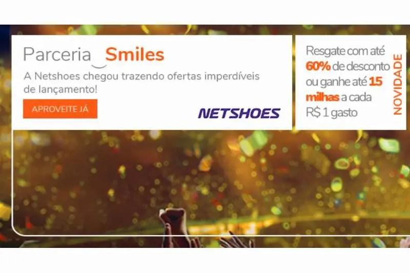 Nova parceria da Smiles com a Netshoes está dando 15 milhas por ... 3b3184ac155bf
