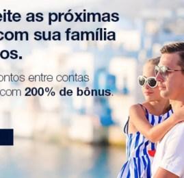 TudoAzul oferece 200% de bônus nas transferências entre contas