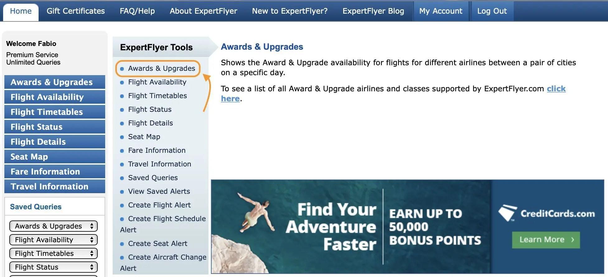 tap miles&go expertflyer