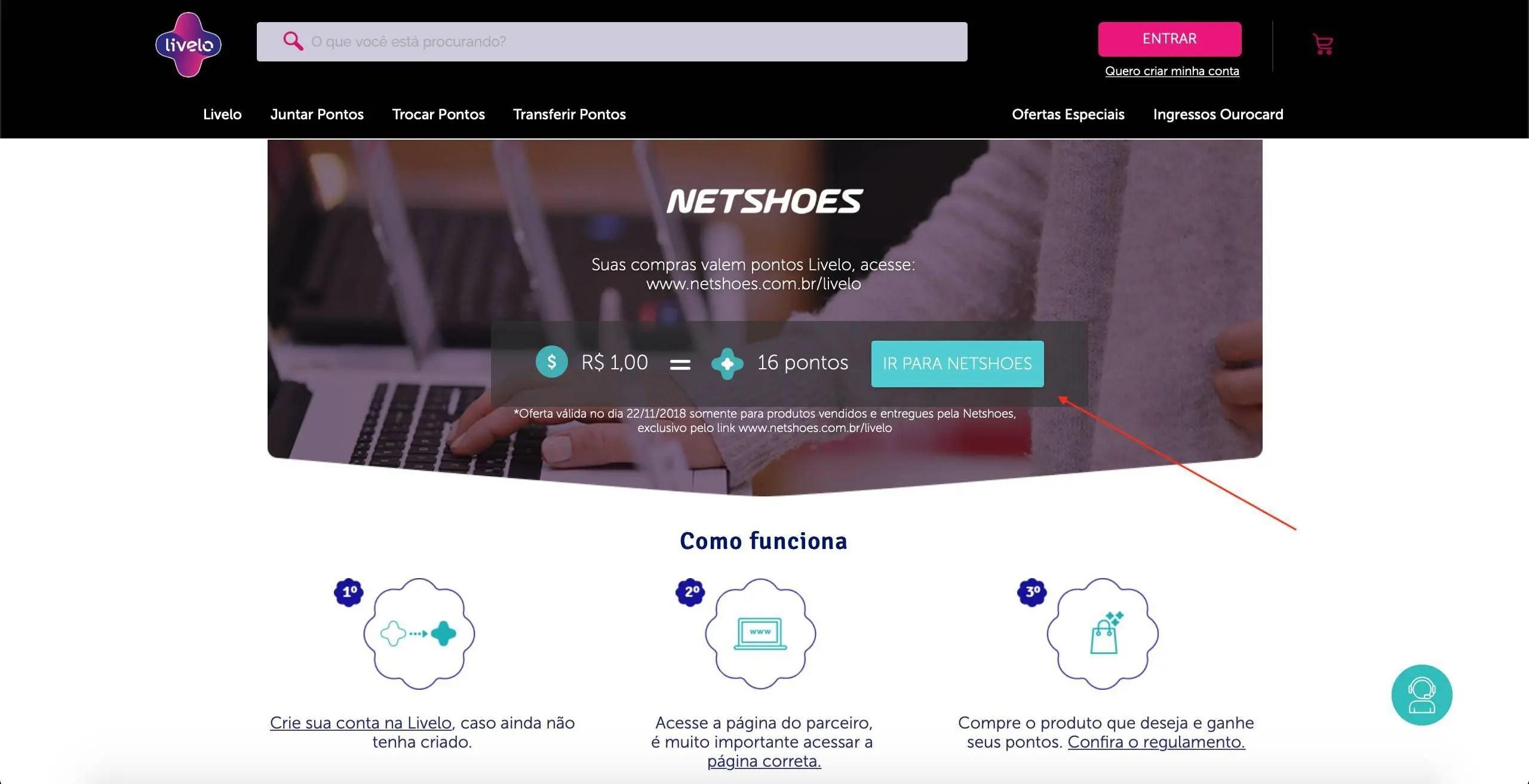 Livelo oferece 16 pontos por Real gasto na Netshoes! - Passageiro de ... c015c5ea46d7b