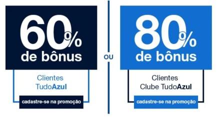 89a0f3e0af Clientes participantes do Clube TudoAzul há mais de 6 meses receberão mais  5% de bônus sobre os pontos transferidos.
