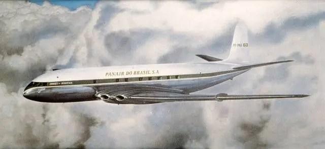 faf06a5e85126 A Panair do Brasil, empresa de bandeira, que em 1946 já completara sua  milésima travessia do Atlântico Sul com quadrimotores Lockheed  Constellation, ...