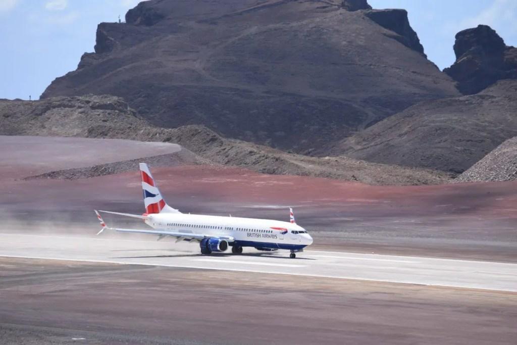 Primeiro Voo Aeroporto de Santa Helena