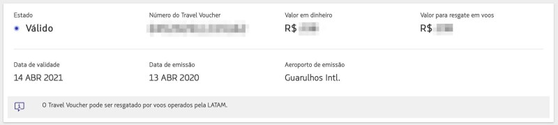 Travel Voucher da LATAM