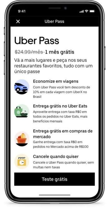 Uber Pass aplicativo