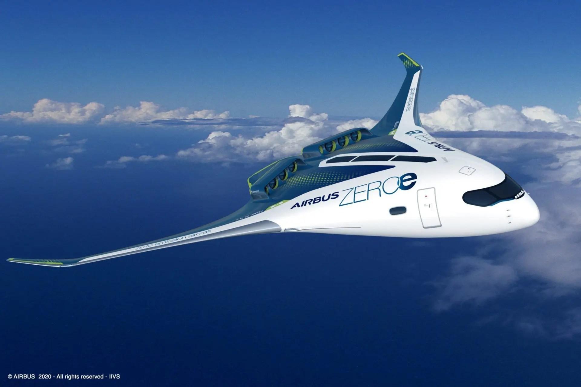 Airbus aeronave hidrogênio