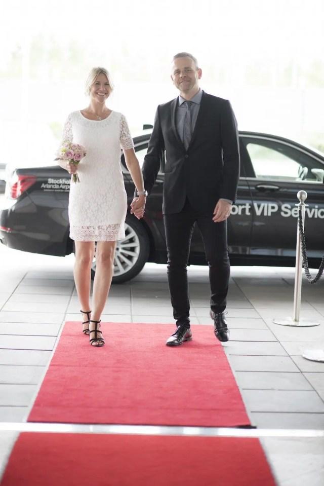 Casamento no Aeroporto de Estocolmo.