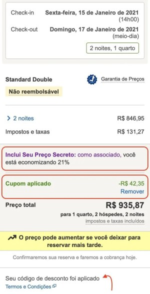 Preços Secretos da Hoteis.com