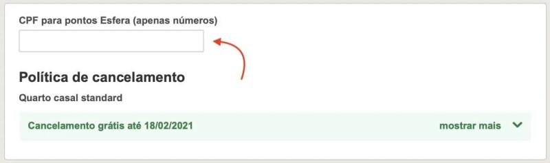 Esfera 6 pontos Hoteis.com