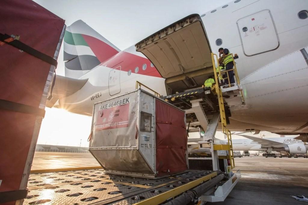 Carga Aeroporto de Dubai
