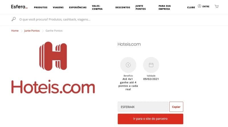 Esfera 4 pontos Hoteis.com