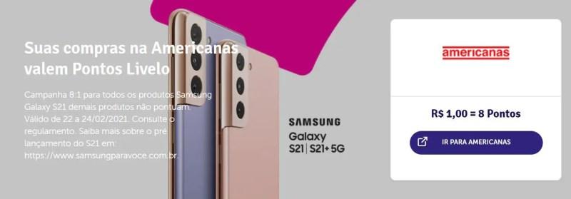 Livelo Americanas Samsung