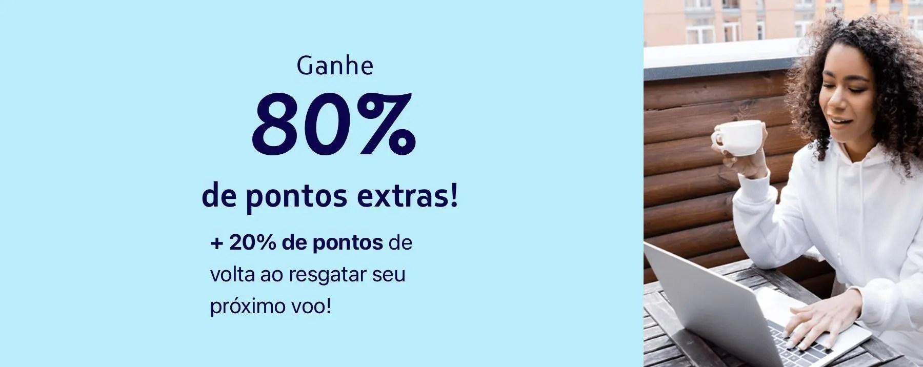 LATAM bônus 80%
