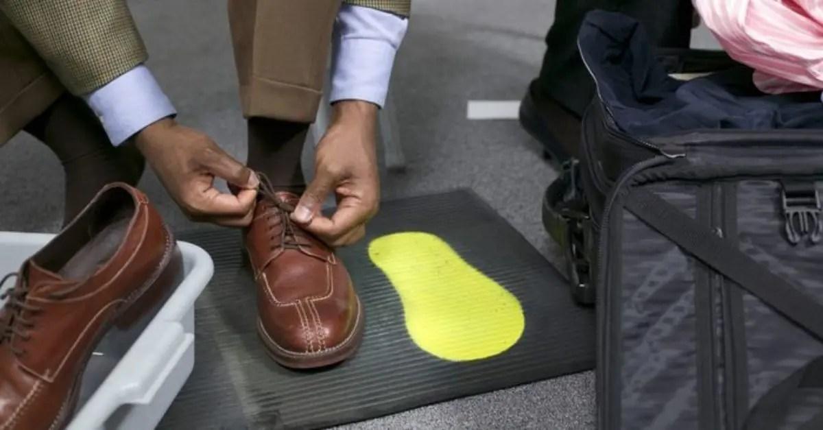 Sapatos aeroporto