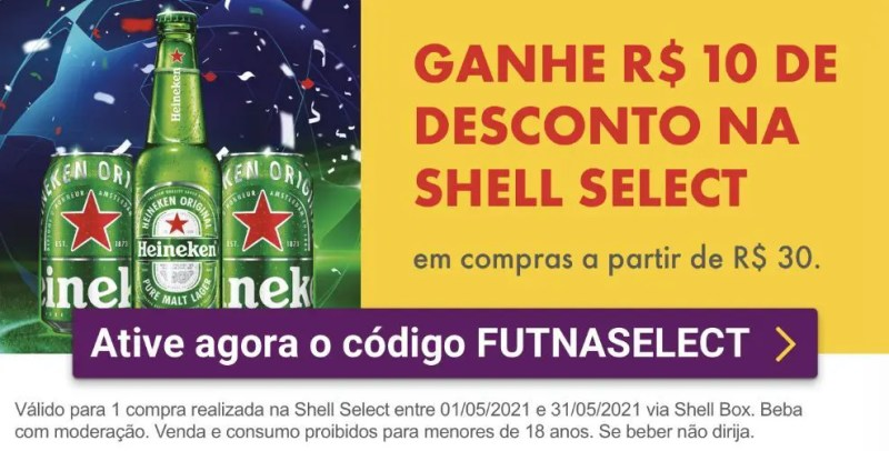 Shell Select cupom desconto
