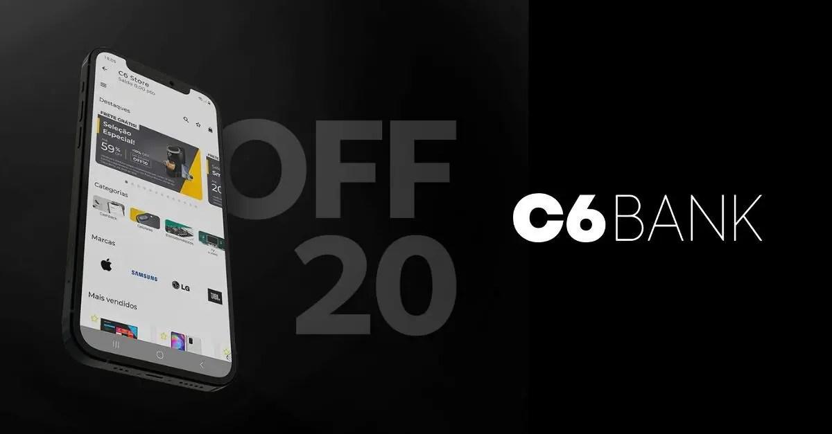 C6 20% desconto