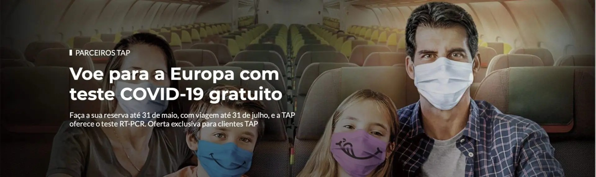 TAP testes COVID-19 gratuitos