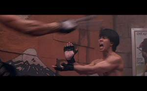 "Ryu dando um ""hadouken"""