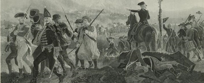 Battle of Bennington. Engraving, 1874, from painting by Alonzo Chappel. Photo courtesy of the National Archives.
