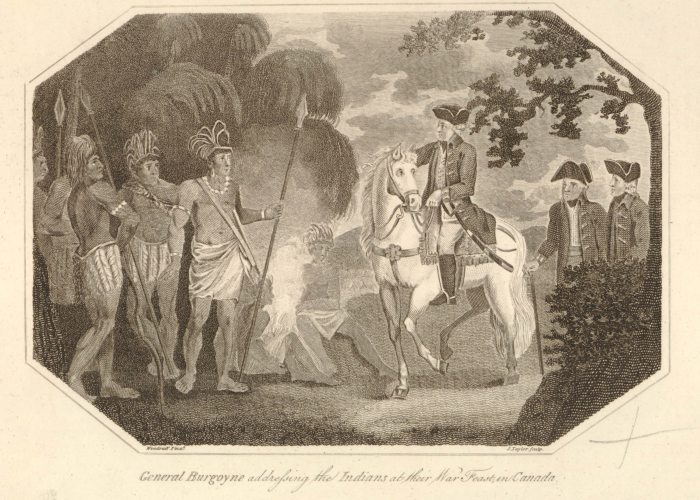 Burgoyne Congress with Indians in Canada British Museum