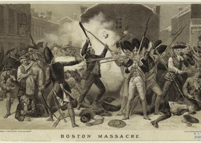 Boston Massacre by Alonzo Chappel. Courtesy of New York Public Library.