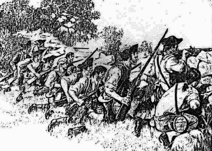 Battle of Hubbardton. Courtesy of National Life Insurance Company. Provided by Vermont Division for Historic Preservation.