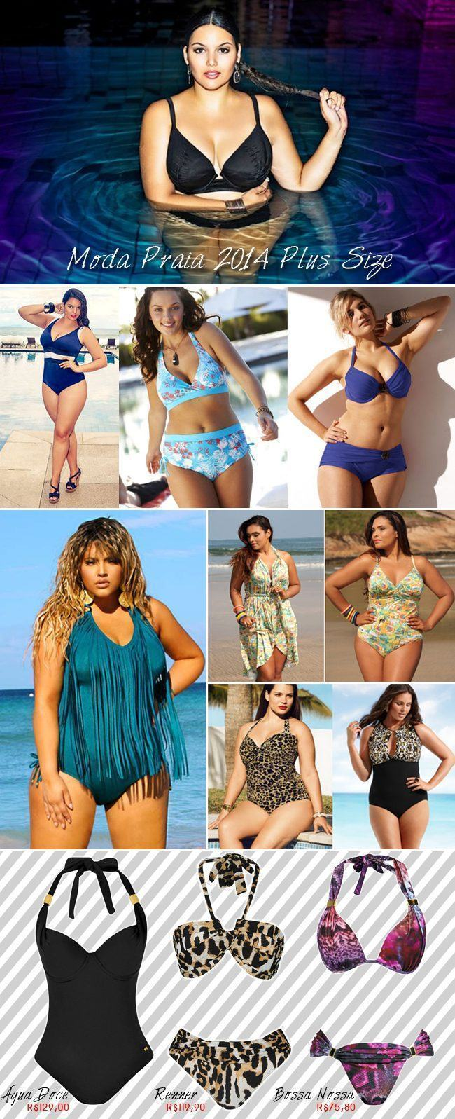 Moda praia 2014 Plus Size copy