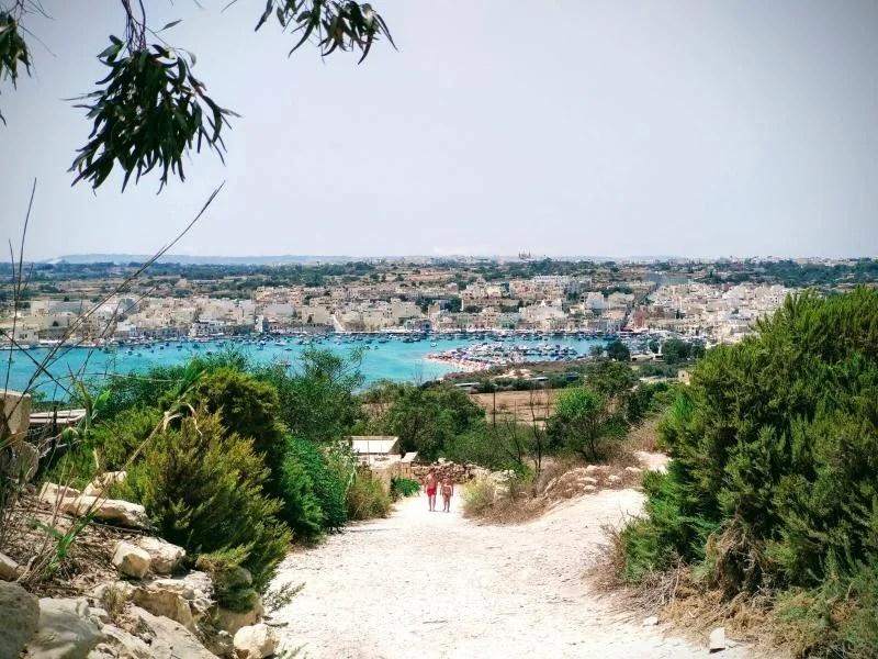 vista do porto em malta