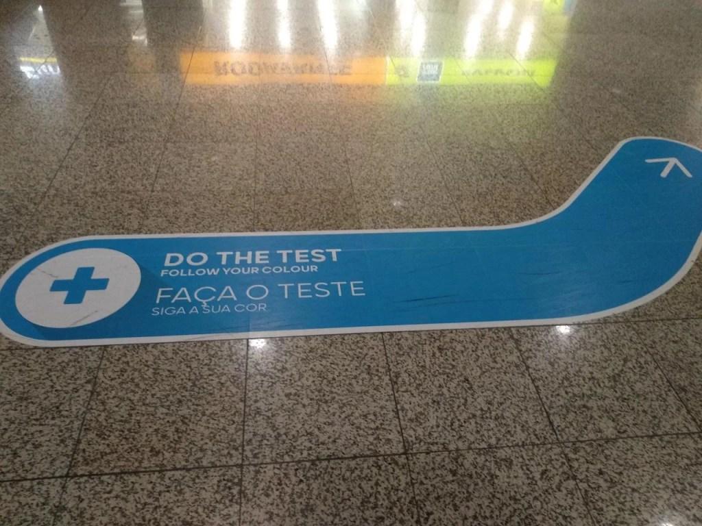 Fazer teste Covid-19 no Aeroporto da Madeira.