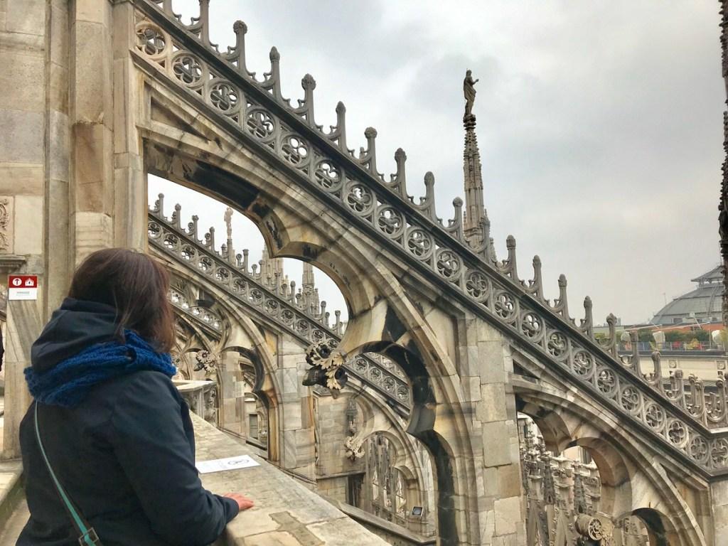 io sul Duomo di Milano