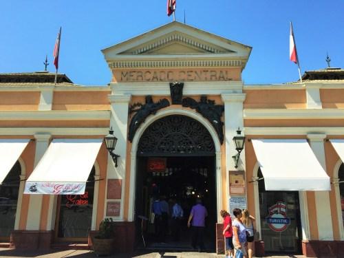 Mercado Central de Santiago do Chile - Entrada