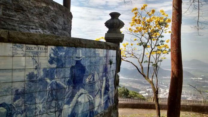 Detalhe do azulejo do Rancho da Maioridade. Foto: Rodrigo Caldas/ Passeios Baratos em SP