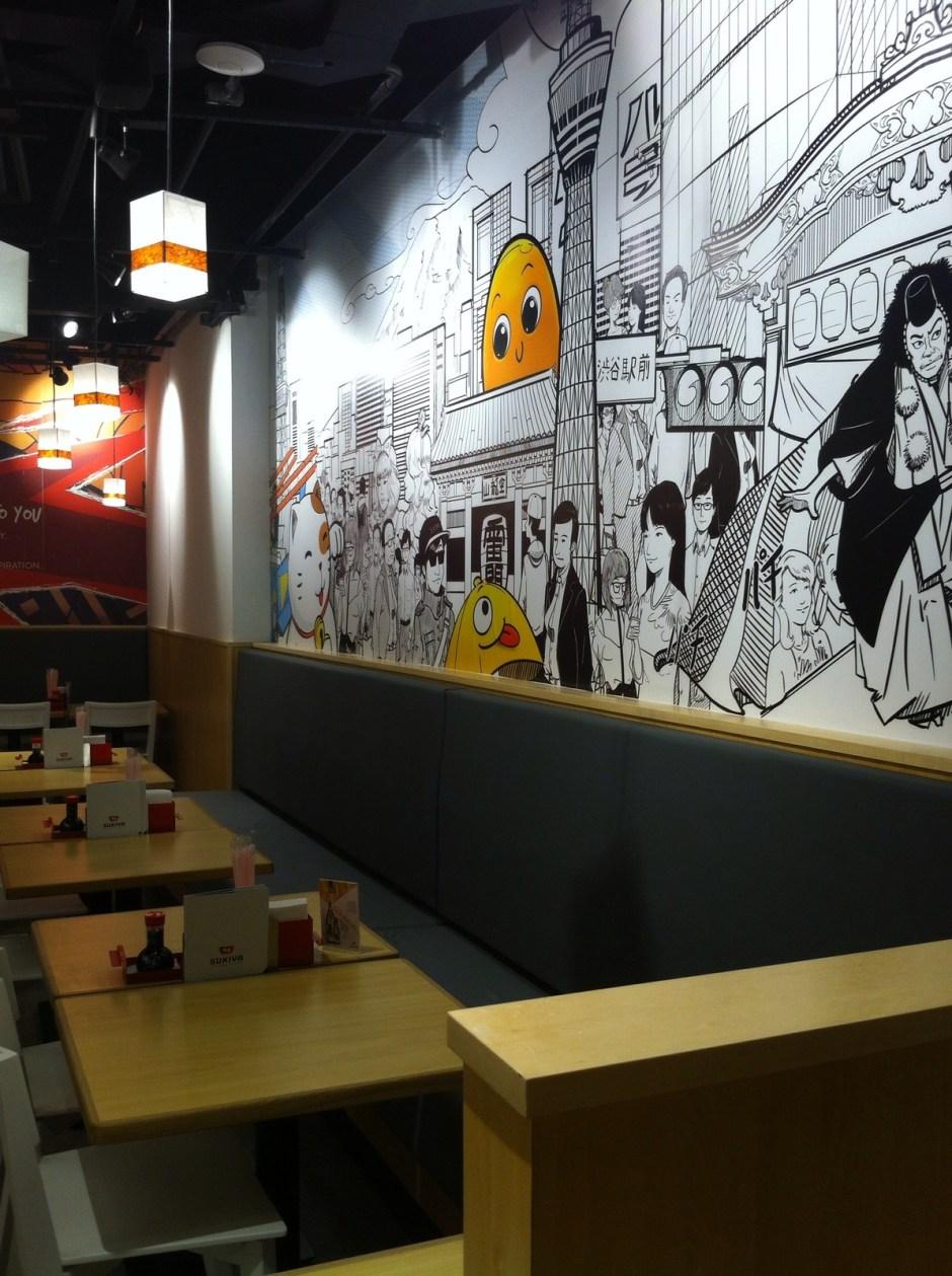 Ambiente do restaurante Sukiya