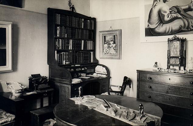 Foto antiga do estúdio de Mário na casa Foto: Germano Graeser/Iphan-SP/MinC)