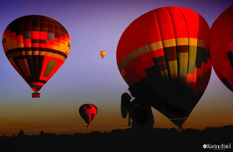 Passeio de balão é uma opção para o Dia dos Namorados Foto: Divulgação