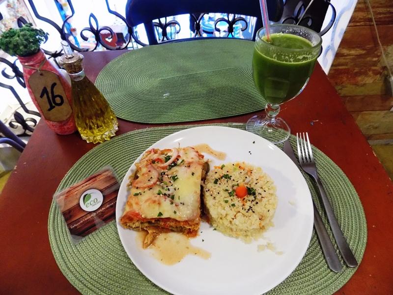 Pratos saborosos e saudáveis do Eco Mercato Foto: Natalia Leme
