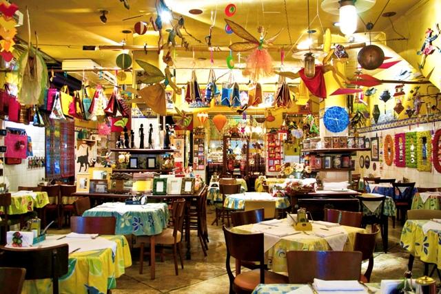 Ambiente alegre e colorido na Mercearia do Conde Foto: Divulgação