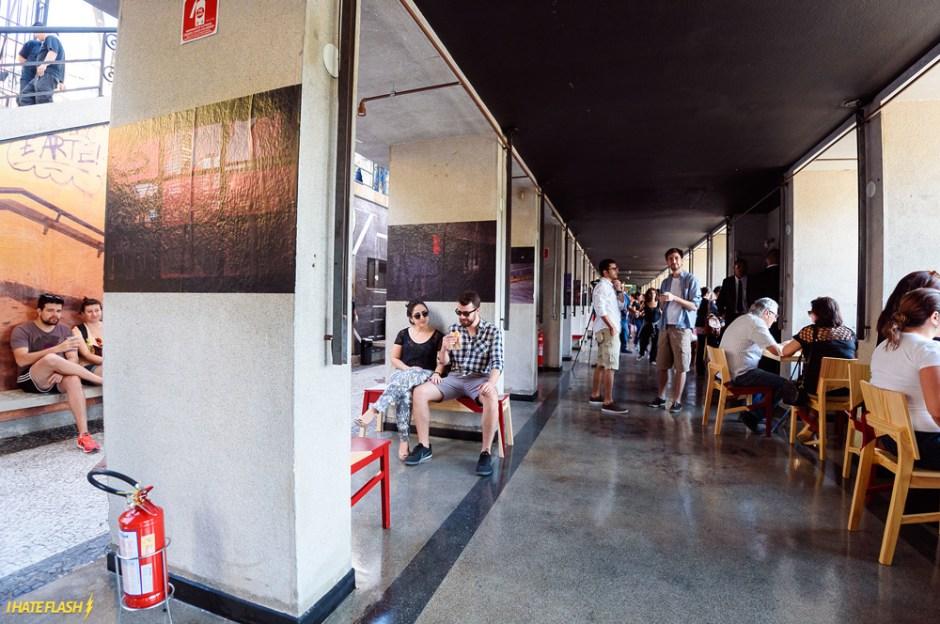 O espaço funciona café e restaurante Foto: Divulgação
