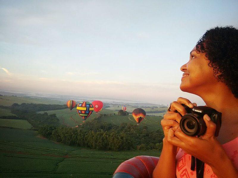 Sonho de criança realizado: voar de balão é uma experiência incrível Foto: Sueli dos Santos