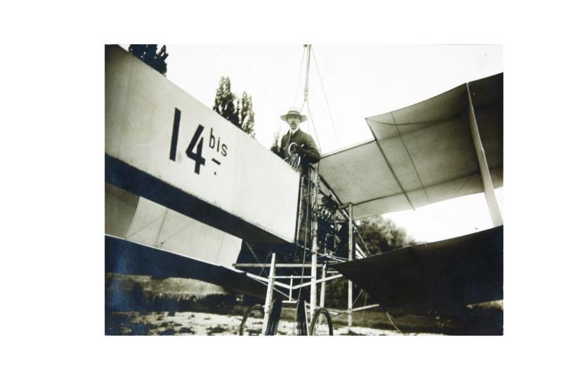 013. Santos Dumont no 14 Bis, s.d.Cred. Horst Merkel-Itaú Cultural
