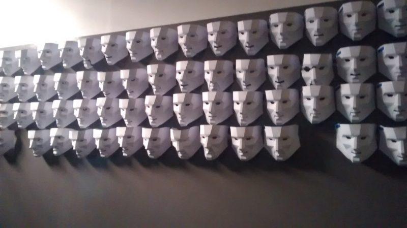 Máscaras refente as vitimas da ditadura Foto: Vilma Alcântara