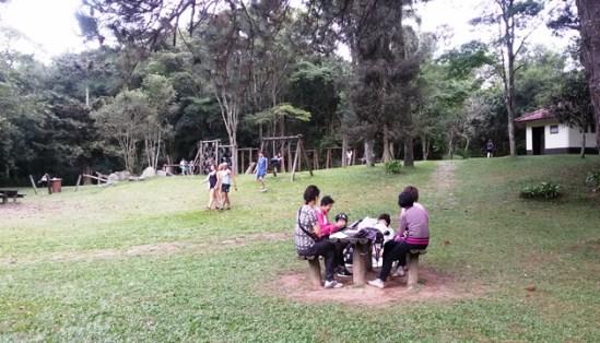 Fazendo piquenique no Parque da Cantareira