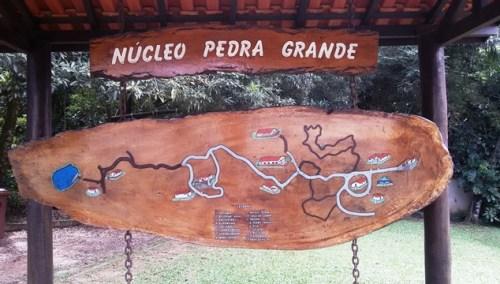 Mapa trilhas Núcleo Pedra Grande