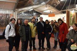 Com o prefeito de San Miniato, na época, o Salvatore e vários estudantes brasileiros
