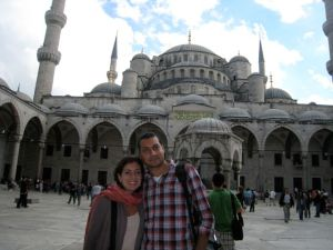 Val and Ayaz at Blue Mosque