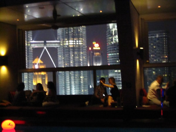 Petronas Towers seen from Traders Hotel SkyBar