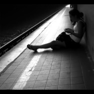...end of the day... by Federico Giusti biancoenero, blackandwhite, bw, iphoneography, ipodtouch, passengers, photoshopexpress, she, thoughts,
