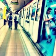 Fontana metro (BCN) by Lluis Gerard passengers,